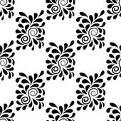 Seamless white background with black pattern — Stock Vector