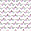 Beautiful seamless pattern with birds and hearts on a white background — Stock Vector #78450670