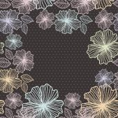 Seamless background of flowers on a dark mottled background — Stock Vector