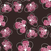 Beautiful seamless pattern with flowers on a dark background — Stock Vector