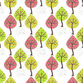 Seamless white background with trees — Stock Vector
