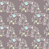 Beautiful seamless pattern with flowers — Stock Vector