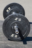Barbell with disks  — Stock Photo