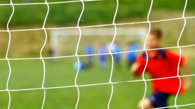 Children soccer game — Stock Video