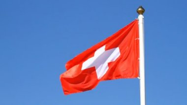 Flag of a Switzerland — Vídeo Stock