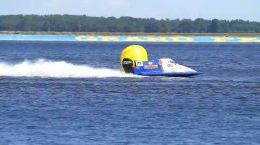 Grand Prix Formula 1 H2O World Championship Powerboat — Stock Video