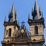 Famous Church  Tyn in Prague — Stock Photo #66510535