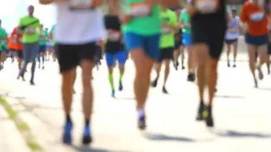 Bulanık maratonunu — Stok video