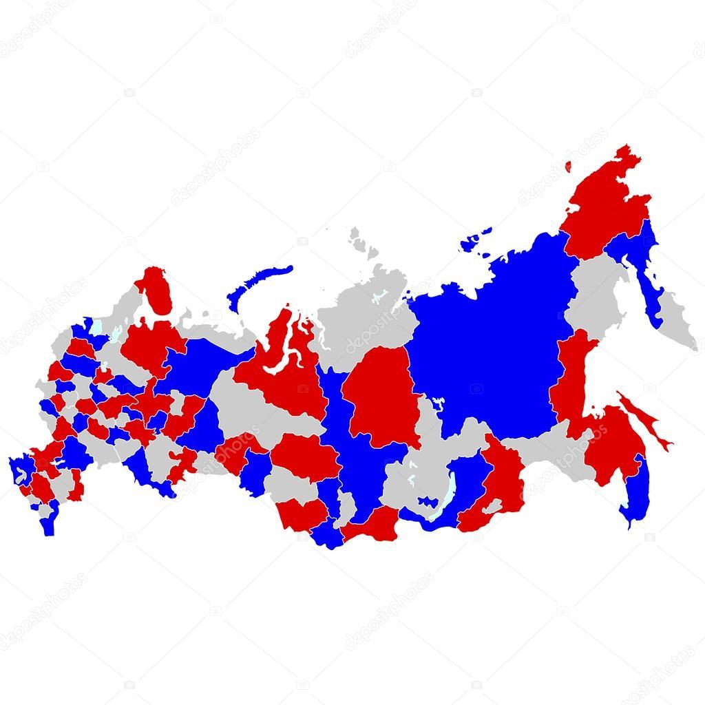 俄罗斯地图国家 — 图库矢量图片#51884235