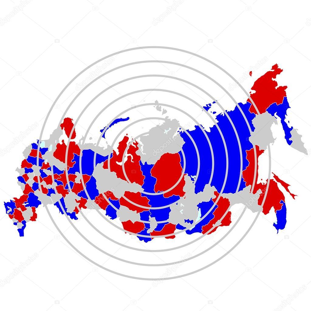 俄罗斯地图国家 — 图库矢量图片#51884285