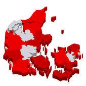 Denmark map countries — Stock Vector