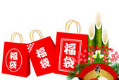 Kadomatsu Lucky New Year — Vector de stock