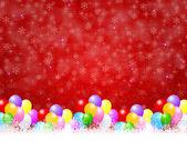 Balloons snow background — Stockvektor