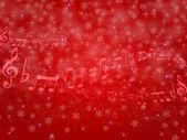 музыка оценка снег — Cтоковый вектор