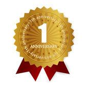 1 anniversary medal frame — Stock Vector