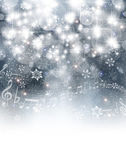 Music sněhu pozadí — Stock vektor