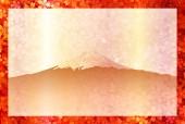 Fuji cherry greeting cards — Stock Vector