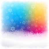 Snow Christmas background — Stock Vector