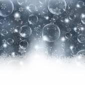 Snow mýdlová bublina pozadí — Stock vektor