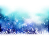 Snow Christmas background — Stock Vector