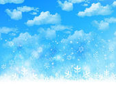 Snow sky background — Stock Vector