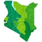 Kenya map country — Stock Vector