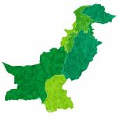 Pakistan map country — Stock Vector