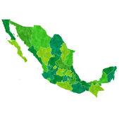 Mexico map countries — Stock Vector