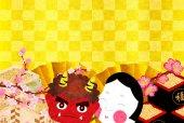 Setsubun demon background — 图库矢量图片