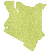 Kenya map countries — Stok Vektör