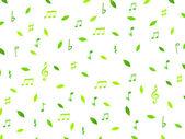 Leaf note background — Stok Vektör
