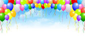 Sky balloons background — Stock Vector