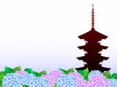 Hydrangea Kyoto background — Stock Vector