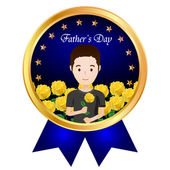 Rose icon Father's Day — Stock Vector