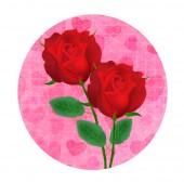 Rosa blomma ikon — Stockvektor