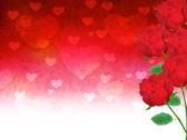 Rose flower background — Stock Vector