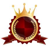 Crown medal frame — Stock Vector