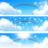 Sky rainbow background — Stock Vector