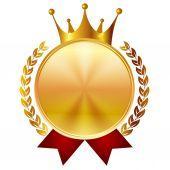 Korona medal ramki — Wektor stockowy
