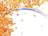 Maple foliage background — Stock Vector