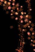 Jesień klon liście Uwaga — Wektor stockowy