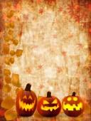 Halloween pumpkin maple — Stock Vector