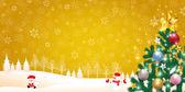 Christmas fir tree Santa — Stock Vector