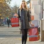 mujer con bolsas de compras — Foto de Stock   #57753209