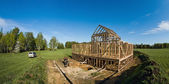 Building site framehouse — Stock Photo