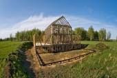 Framehouse building site — Stock Photo