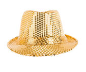 Festively gold hat — Stock Photo