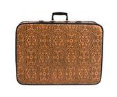 Suitcase on white — Stock Photo