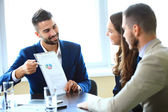 Business partners at meeting — Stok fotoğraf