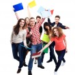 Casual group of excited friends — Stock Photo #62779653
